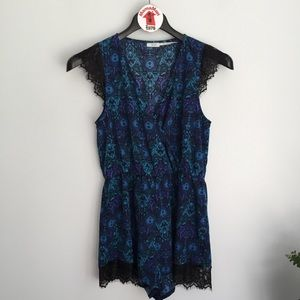 Kimchi Blue Urban Outfitters Blue Romper